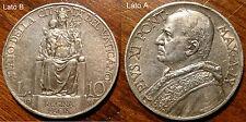 MONETA DA 10 LIRE VATICANO PAPA PIO XI ARGENTO 1930 - REGINA PACIS