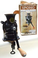 More details for vintage spong no1 coffee grinder mill with tray & box- wall mount or table top