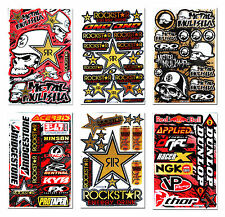 New Metal Mulisha Stickers Motorcycle Scooter Motorbike Set 6 Vinyl Kits Decals