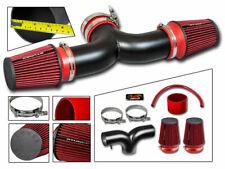 Short Ram Air Intake Kit MATT BLACK + RED for 01-04 Corvette C5 5.7 V8 Dual Twin