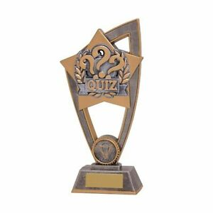 quiz Resin Trophy 2 sizes With Free Engraving up to 45 Letters