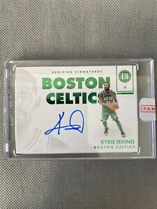 KYRIE IRVING 2017-18 Encased Scripted Signatures Green Auto #2/5 Celtics SSP