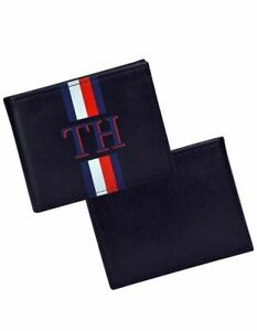 Bnew TOMMY HILFIGER Men's Leather Wallet- Bifold With RFID, black