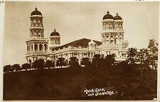 JOHORE, MALASIA, Johor, Photo Post Card 1910-20? MOSQUE,  Johor Bahru