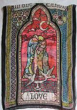-Echarpe/étole en mousseline MOSCHINO  soie TBEG vintage Scarf 65 X 180 cm