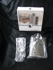 Golf Ball Theme 8oz Stainless Drink Liquor Hip Bag Flask + Bottle Opener NIB!