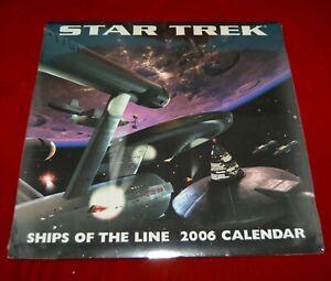 Star Trek Enterprise 2006 Ships of the line Calendar sealed