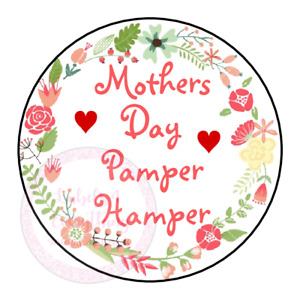 Mothers Day Pamper Hamper Stickers Gift Box Sweet Cones Sweet Gift Bag Party
