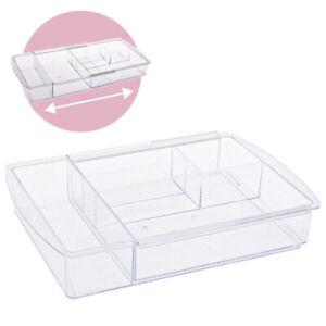 Schubladen Organizer ausziehbar Box Fach Einteiler Küche Kosmetik Acryl Make up