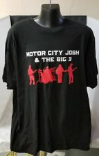 Motor City Josh & the Big 3 Black T-Shirt XL XLarge Funky Blues You Can't Refuse