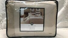 Hotel Collection Modern Block Beige/white Pima Cotton Twin Comforter