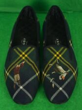 """Polo Rugby Tartan Plaid Duck Huntsman Embroidered Slippers Sz: 12"""" (US) New"""