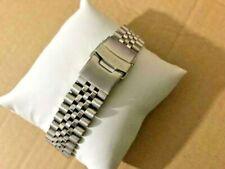 20mm Seiko jubilee flat straight lugs stainless steel gents watch bracelet strap