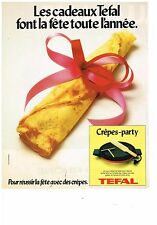 PUBLICITE ADVERTISING 054 1979  TEFAL   lle crepe-party