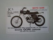 advertising Pubblicità 1975 MOTO GORI JC 5 CODICE 50
