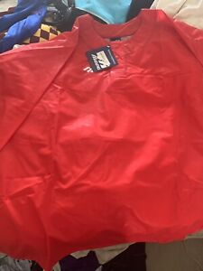 2 Mizuno Polyurthane PVC Jackets Baseball Shell Shiny WET LOOK XXL 2XL Red Blue
