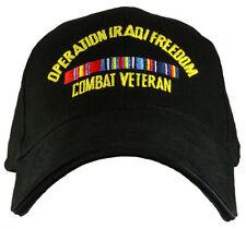 Operation Iraqi Freedom - Combat Veteran Cap. Black. - Black Baseball Cap