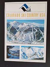 VINTAGE 1960's VAIL COLORADO SKI COUNTRY LIFT MAPS POSTER  HAL SHELTON ORIGINAL