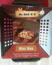 Mr. Bar-B-Q Premium Non-Stick Mini Wok Grill Top Tool Accessory