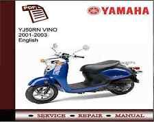 Yamaha yj50rn yj50 vino 2001 - 2003 Service Reparación Manual De Taller