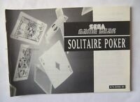 48343 Instruction Booklet - Solitaire Poker - Sega Game Gear () 672-0596-50