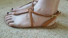 George Leather Tan Toe Post Sandals Size 7 ... Ex condition