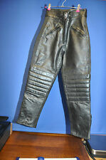 LEATHER MOTORBIKE TROUSERS SIZE 10