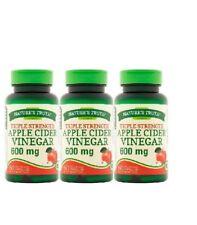 3 pack Natures Truth Apple Cider Vinegar Quick Release Capsules 600mg 60ea 03/22
