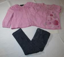 Calvin Klein baby girls 3 PC dress leggings Pink & denim 24M 3703091-99 NWT^^