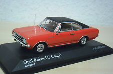 Minichamps-OPEL REKORD C Coupé (1966) - Rosso/Nero-N. 430 046129 - 1:43