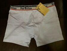 John Galliano Men's White W/ Black Red Signature Boxer Briefs XL Trunks Rare