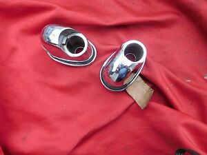 NOS Kaiser Frazer Rear Swivel Handle BASE (2) Heavy Chrome One Lens 200669?