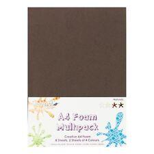 Dovecraft A4 Art + Craft Coloured Foam 8 Sheet Shade Multipack - Naturals