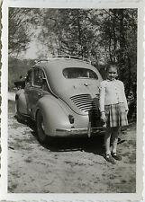 PHOTO ANCIENNE - VINTAGE SNAPSHOT - VOITURE AUTOMOBILE RENAULT 4 CV ENFANT - CAR