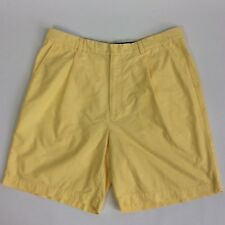 Tommy Hilfiger Men's Short Pants Classic Pleated RN77806 Yellow Size 36