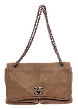 Chanel Beige Quilted Leather Large Messenger Bag