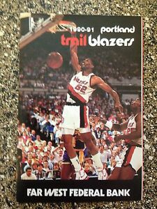 Portland Trail Blazers 1990-91 Buck Williams  NBA Pocket Schedule bundle NEW