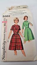 1950s Simplicity Printed Sewing Pattern 5564 - Classic One Piece Everyday Dress