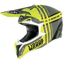 Airoh Wraap Roto Amarillo Mate Motocross MX Enduro Moto de Cross Casco