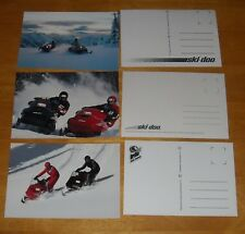 3  Vintage 1988? SKI-DOO SNOWMOBILE Advertising Postcards MACH1 FORMULA PLUS MX