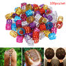 100x DIY Dreadlock Beads Adjustable Hair Braid Rings Cuff Clips Wholesale Kid B9