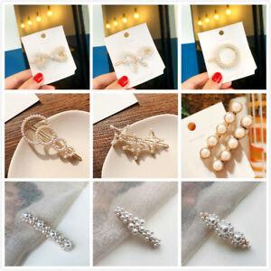 Pearl Hair Clip Slide Hair Pin Chunky Hair Clips Barrette Bridal Hair Accessory