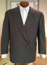 Giorgio Armani Mens Le Collezioni Gray Peak Lapel DB Suit Sz 38 R MINT!