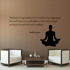 Yoga Quote Wall Decals Meditation Brings Wisdom Decal Home Gym Vinyl Decor AR38