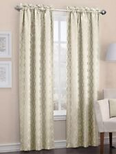 Sun Zero Dion Rod-Pocket Blackout Lined Curtain Panel 40inX84in Ivory NEW