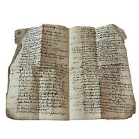 1600's European Paper Handwritten Manuscript Codex - Legal Document Old Rare