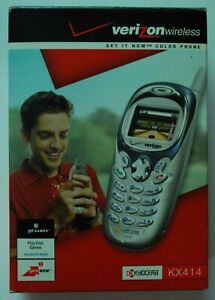 Verizon Kyocera KX414 color Cellphone used w/box & manuals works fine