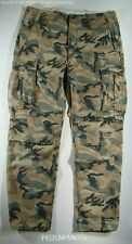 Levis Mens Green Brown Military Ace Camo Cargo Relaxed Pants 33x34 NWT