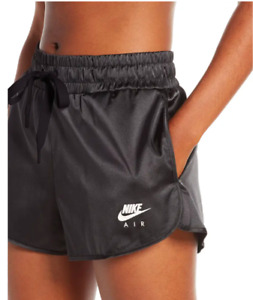 NWT NIKE AIR SATIN SHORTS Women's Shorts Black/White AUTHENTIC