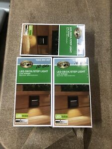 Hamton Bay Led Deck/step Light. Low Voltage. 1002 669 467 Lot of 3 (3 units)